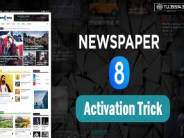 Newspaper Theme Activation Method