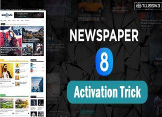 Newspaper Theme Activation Method