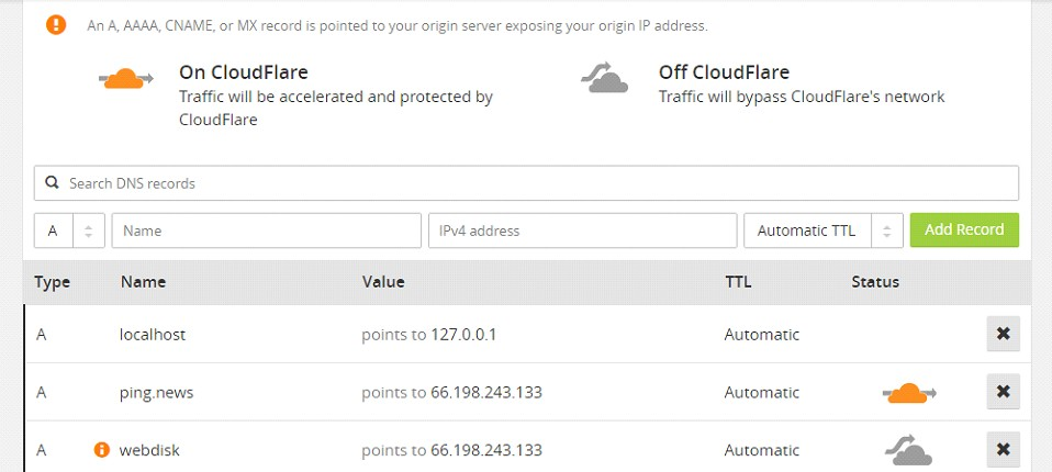 DNS-Records-CloudFlare