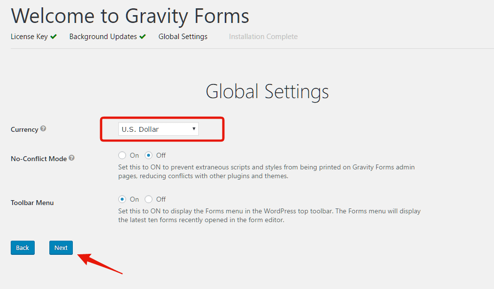 bypass gravity forms license key