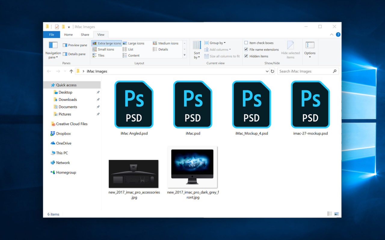 how to view psd files as thumbnails in windows 10